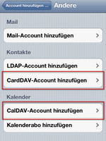 CardDAV und CalDAV