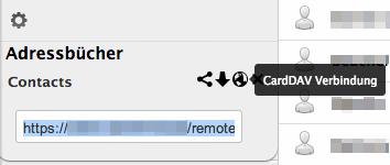 ownCloud CardDAV-URL