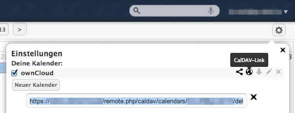 ownCloud CalDAV-URL